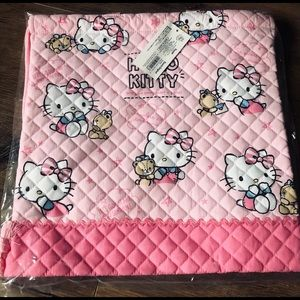 HELLO KITTY-NWT RARE Pink Quilted Tote Bag
